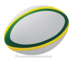 Three colour rugby stressball