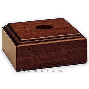 Mahogany-Tone Lighted Wood Base