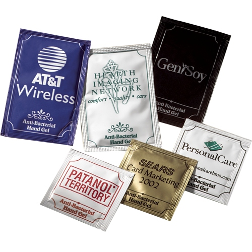 Anti-bacterial hand gel packets - Large