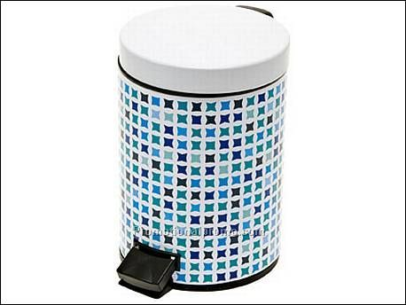 Bathroom Waste Bin Mosaic Blue