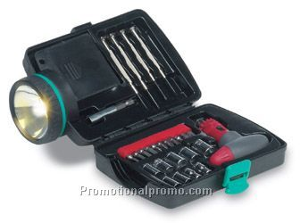 Breakdown light with tool kit