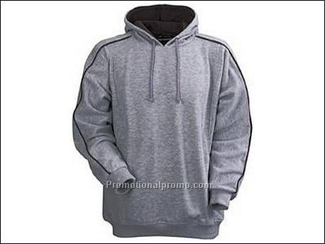 Hooded sweater. 1x1 rib gebreide manc...