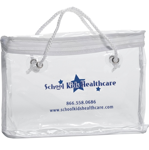 Vinyl Zippered Bag With Rope Handle China Wholesale Bbv31411
