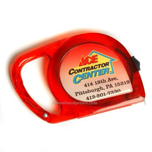 Carabiner Dome Tape Measure, 10 ft