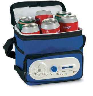 Cooler bag with AM/FM radio