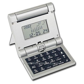 Trifold Calculator Clock