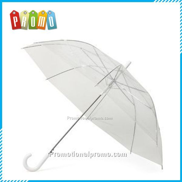 Promotional Clear folding Umbrella,Long handle transparent umbrella,Advertising umbrella
