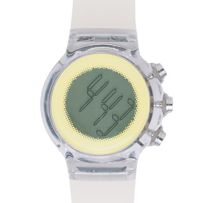 Circular Digital Watch