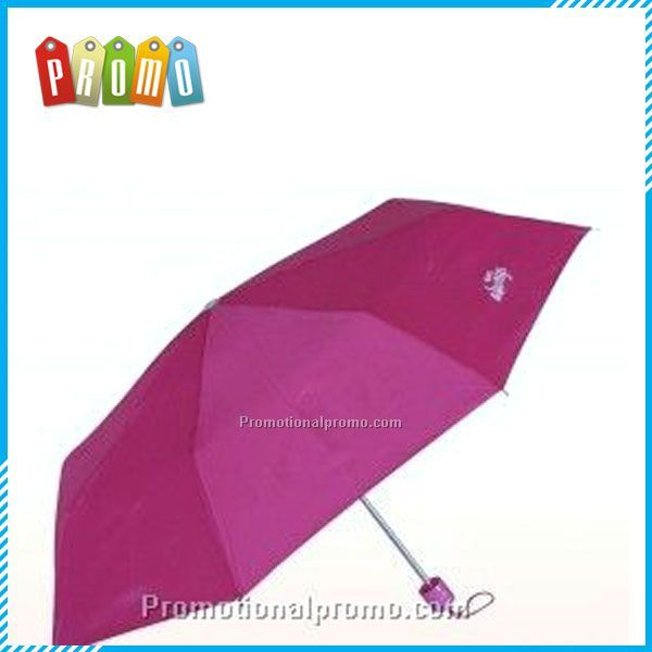 Promotional Pink 3-folding Umbrella