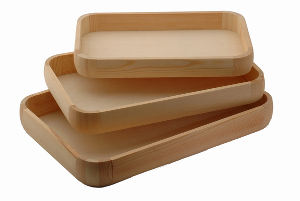 Promotional engraved Difference size wooden Serving tray