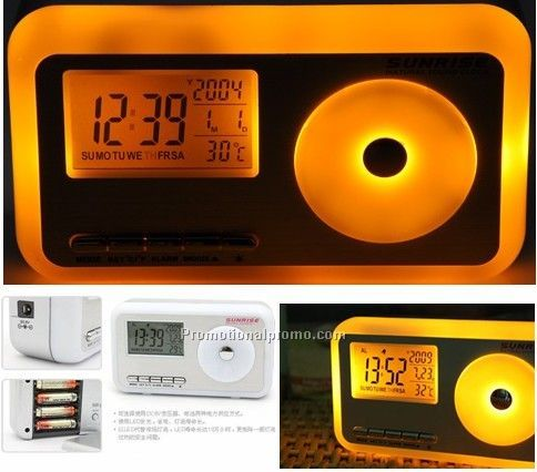 Sunrise decompression alarm clock