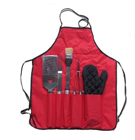 5 Pieces Eco-friendly Apron Tool Set