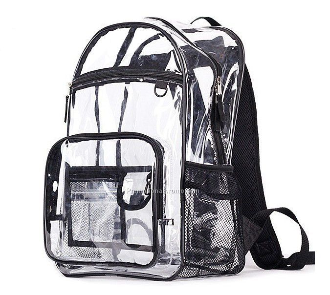 Stylish Waterproof Transparent Travel PVC Backpacks for Male and Female