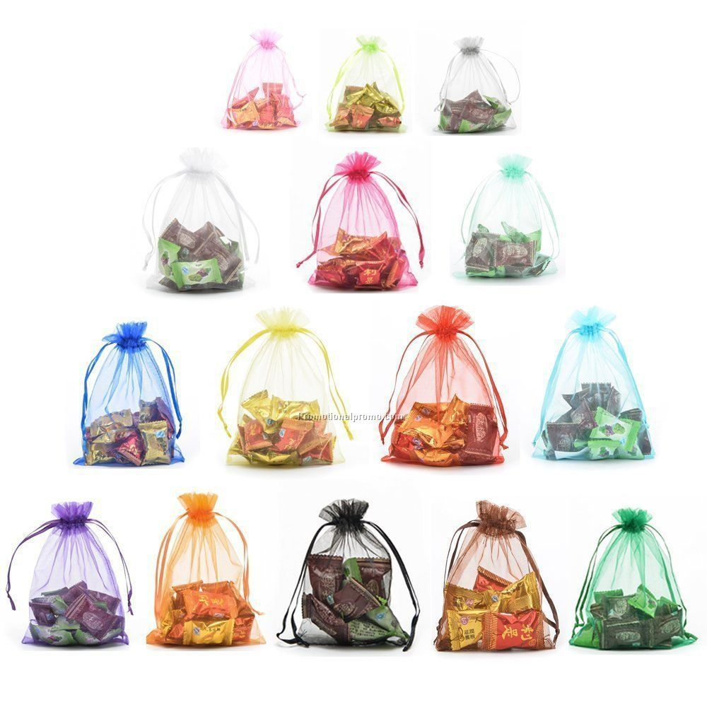 Different size organza bag