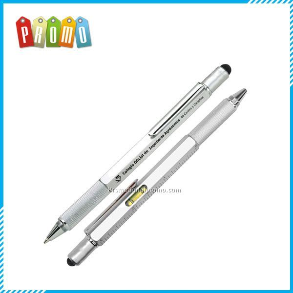 4 in 1 Level Pen includes ball pen, level, screwdriver and ruler
