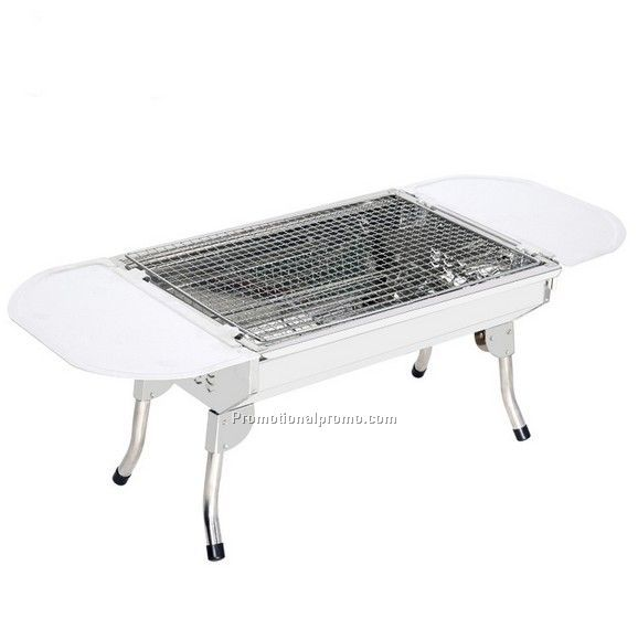 Stainless steel camping barbecue grill, high-end folding barbecue grill