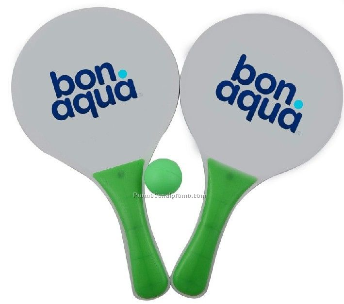 Wholesale promotional MDF beach racket, MDF beach tennis racket