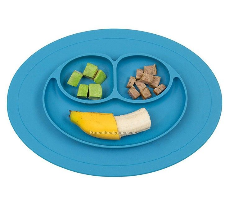 Sucker Bowl Anti-skid Silicone Plate for Children or Infant