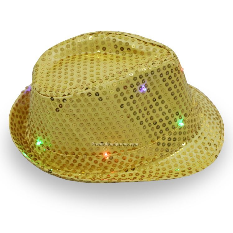 9 LED Colorful light up Cowboy Hat, Jazz Hat,Hip-hop performed light up hat
