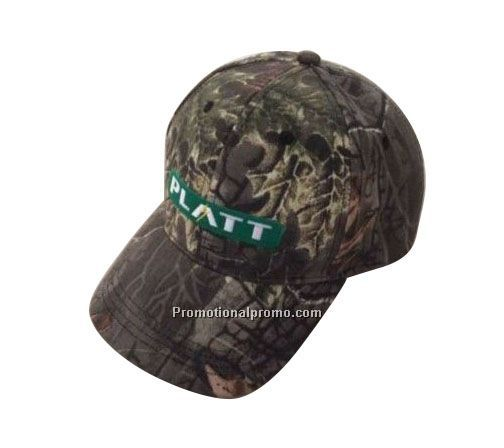 Direct embroidery - Cotton and polyester twill structured, low profile, six panel camouflage cap