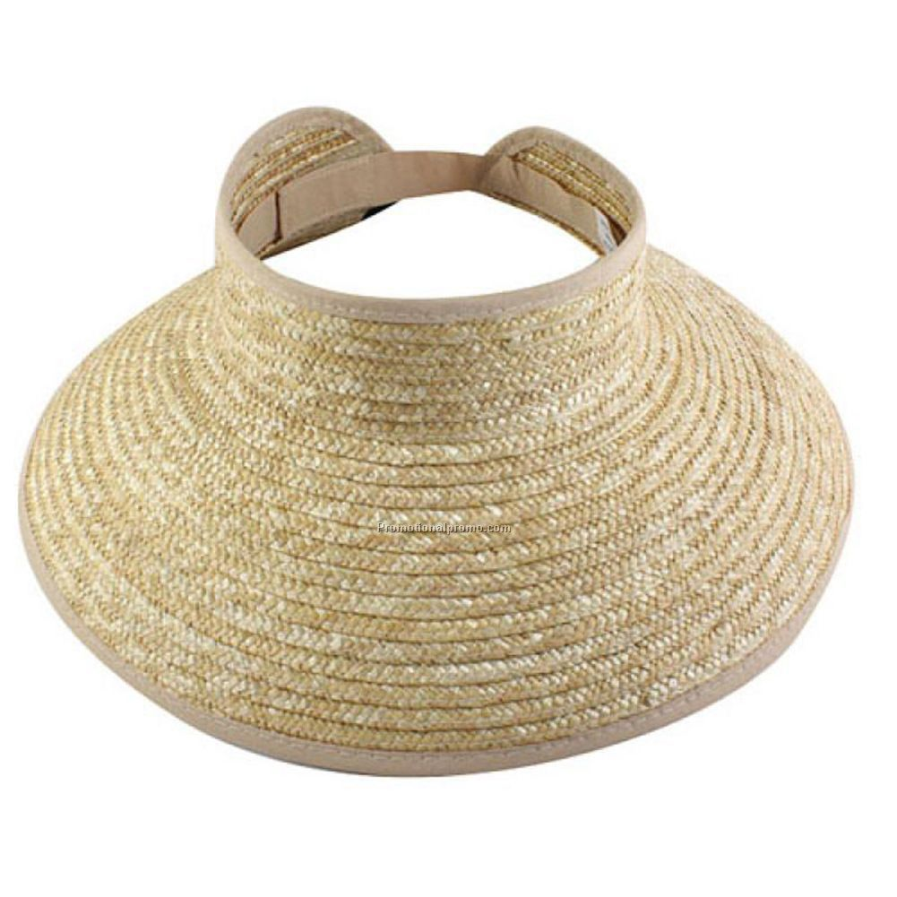 Promotional brim beach straw hat