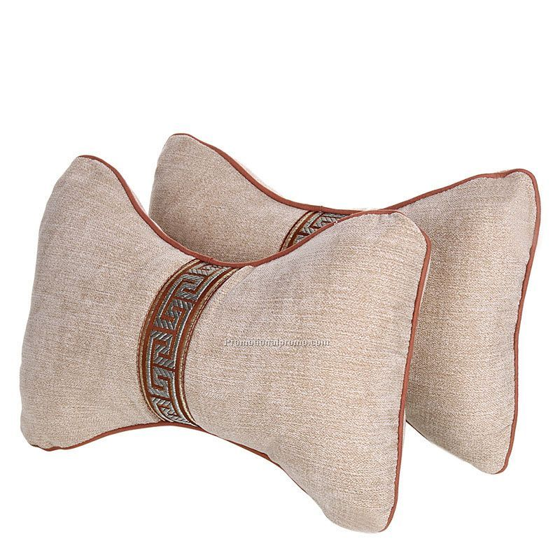 Cotton car seat neck rest pillow