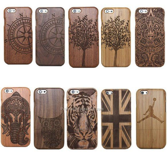 Detachable wood mobile phone case, oem logo wood case for iphone 6 6plus