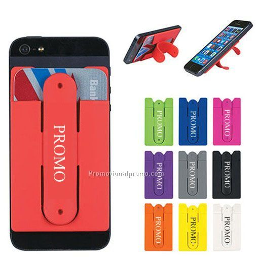 2 In 1 Silicone Smart Wallet Mobile Card Holder With Stand