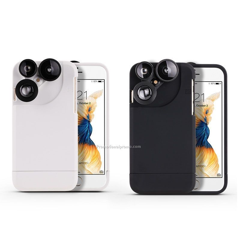 Creative Accessory Mobile Phone Case Cover With 3 in 1 Switchable Lens Set