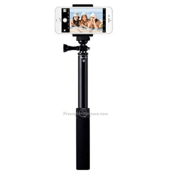 Luxury aluminum wireless bluetooth selfie stick