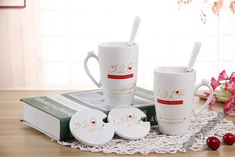Promotional Ceramic Couple Mugs for Valentines Gift