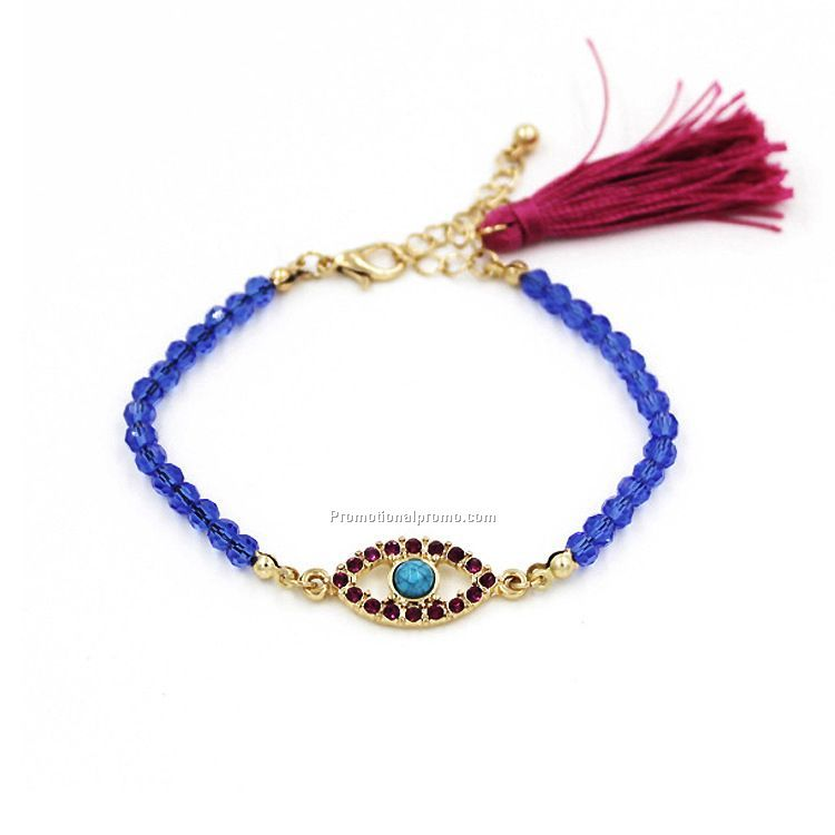 Hot sale natural beads evil eye bracelet