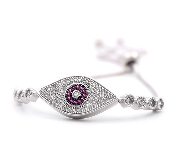 Fashion Cubic Zirconia Adjustable The Evil Eye Bracelet