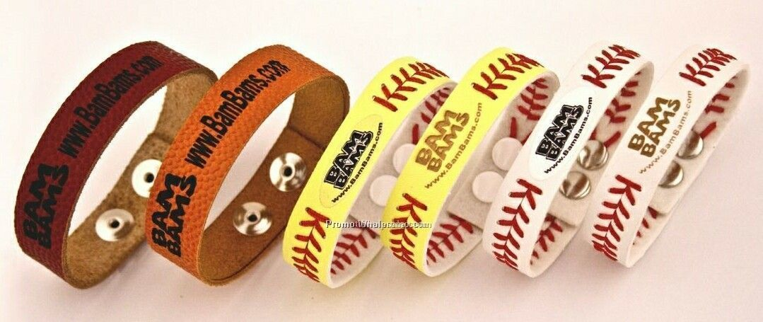 Wholesale Monogrammed PU Leather Sport Ball Bracelet