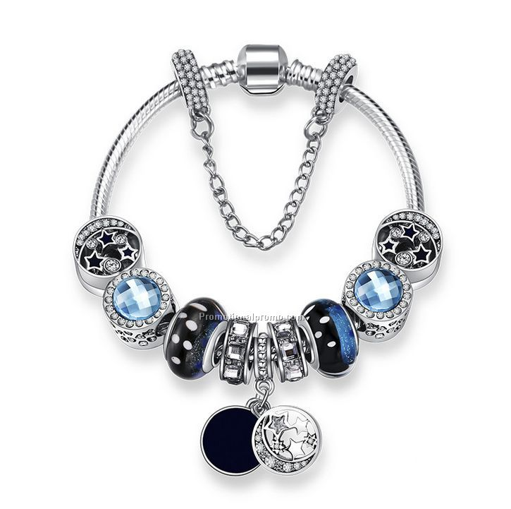 Crystal Glass Beads Charm Bracelets For Women