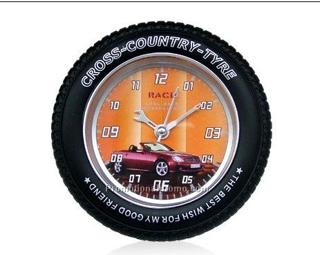Promotional Tire shaped plastic clock