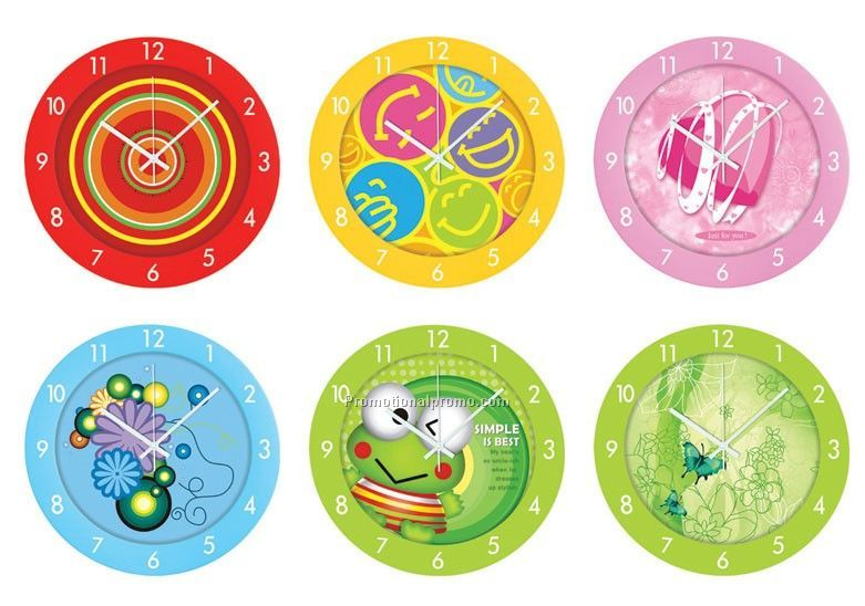 Promotional Cartoon  Round Wall Clock