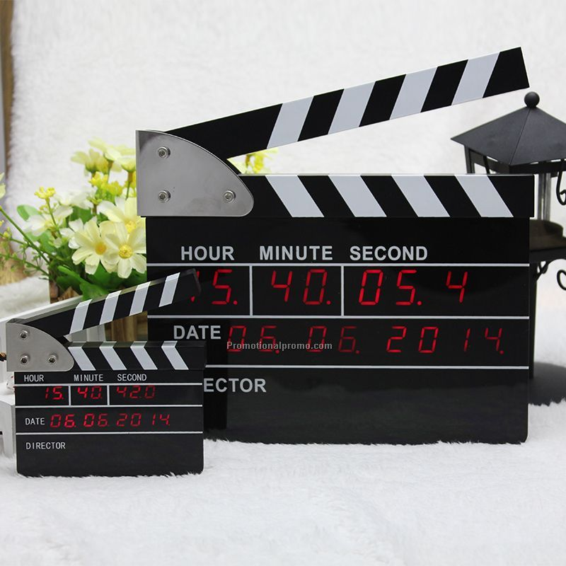 Big Movie Clapper Alarm Clock LED Digital Clock