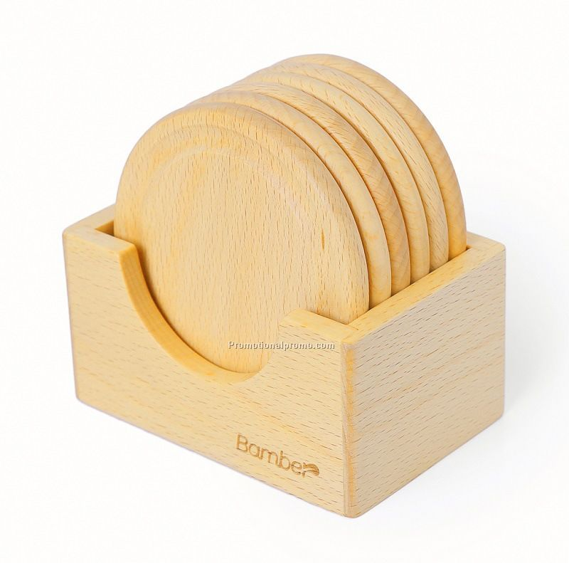 Wood cup coaster