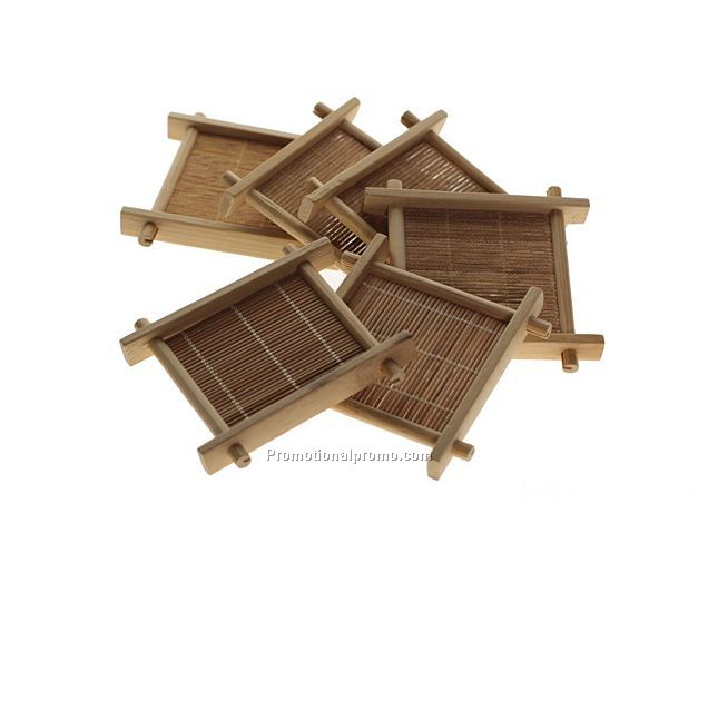 bamboo square coasters in 9*9cm
