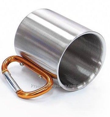 Stainless steel  Mug with Carabiner hook