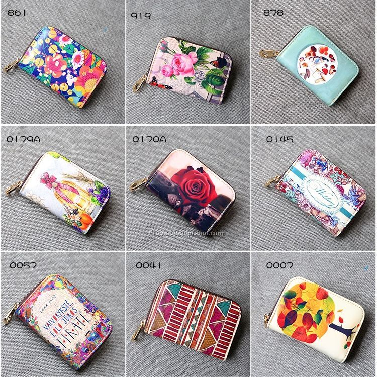 Women zipper credit card holder coin purse