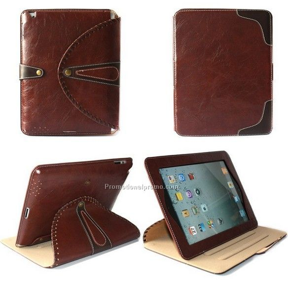 Genuine leather case bracket for ipad 2 3 4