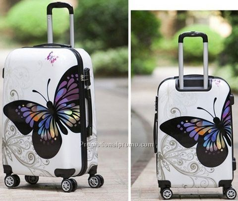 butterfly luggage case