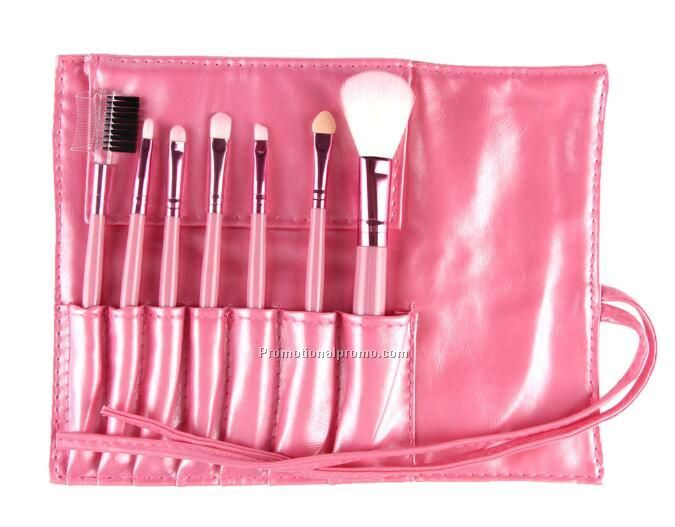 Professional 7pcs Makeup Brush Set Tools Make-up Toiletry Kit Set with Case
