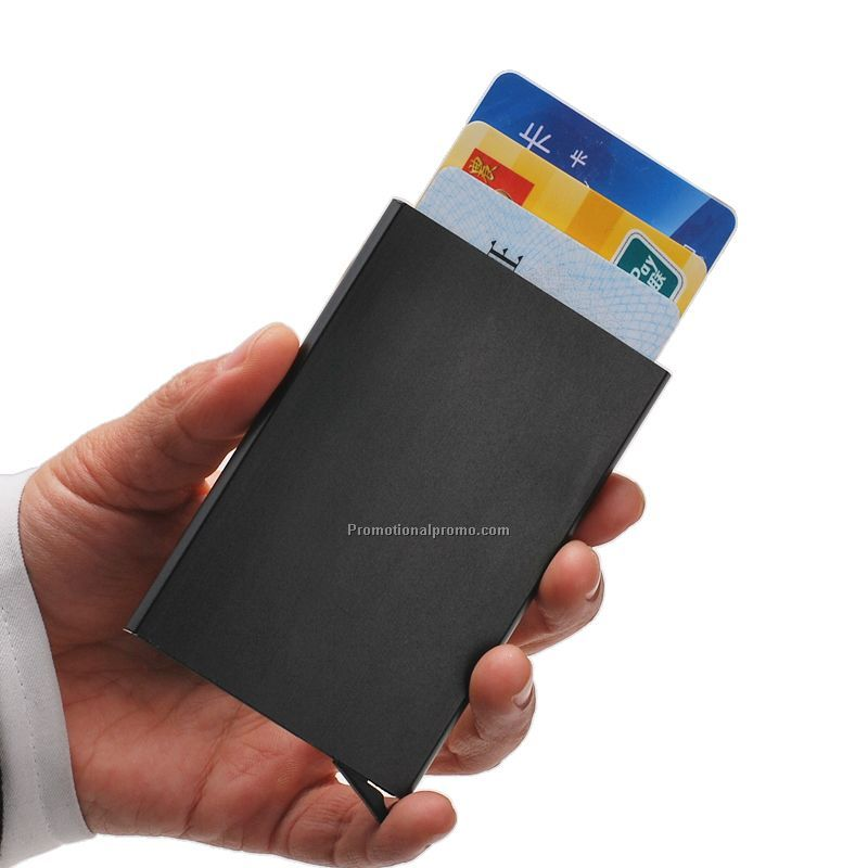 Aluminum anti RFID Blocking Multiple ID Card Holder