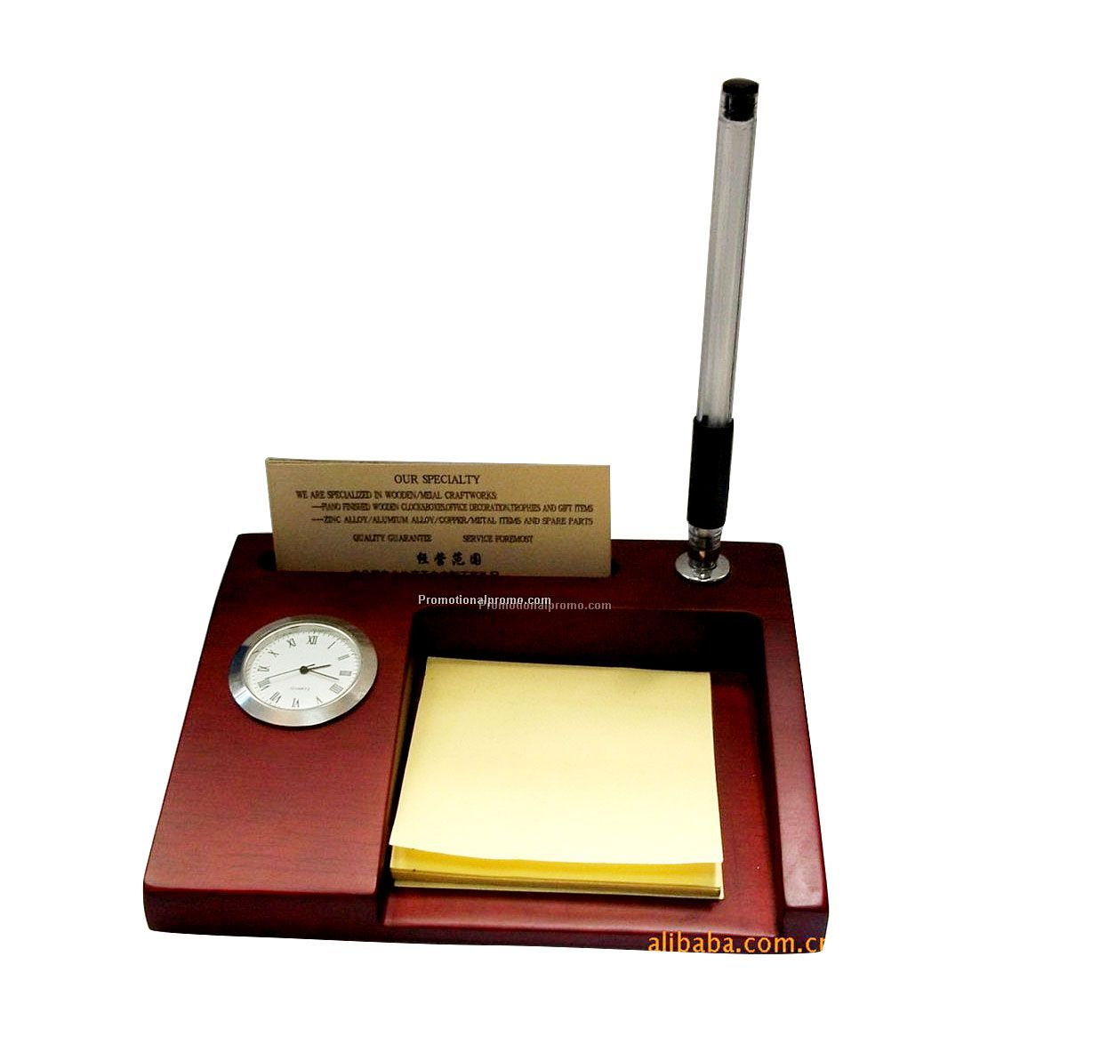 Promotional muti-function wood desktop clock