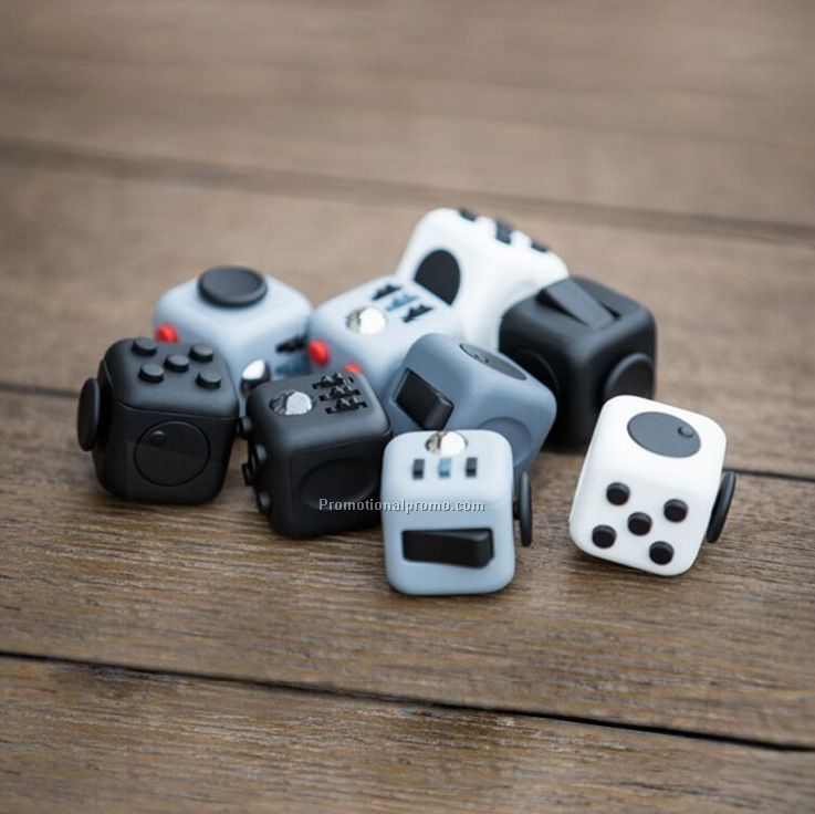 High Quality Rubberized Plastic Cube Dice Anti-anxiety And Depression Fidget Cube For Children And Adults