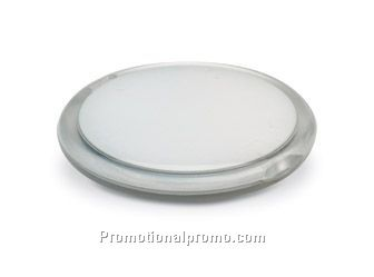 Double mirror in round shape