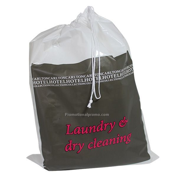Plastic HDPE Drawstring bag with customized logo